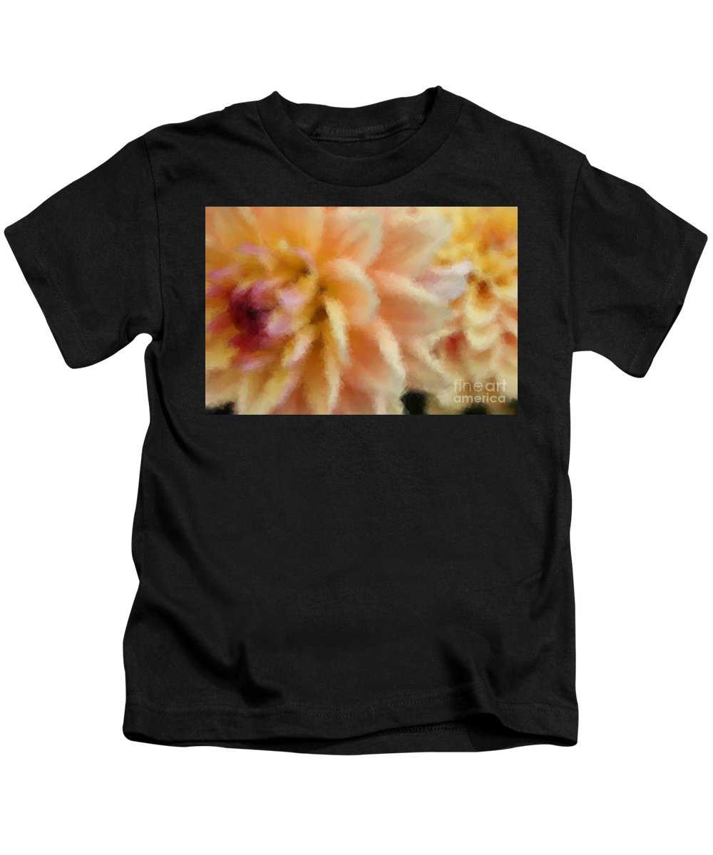 Dahlia Kids T-Shirt featuring the photograph Dahlia Delight 2 by Brook Steed