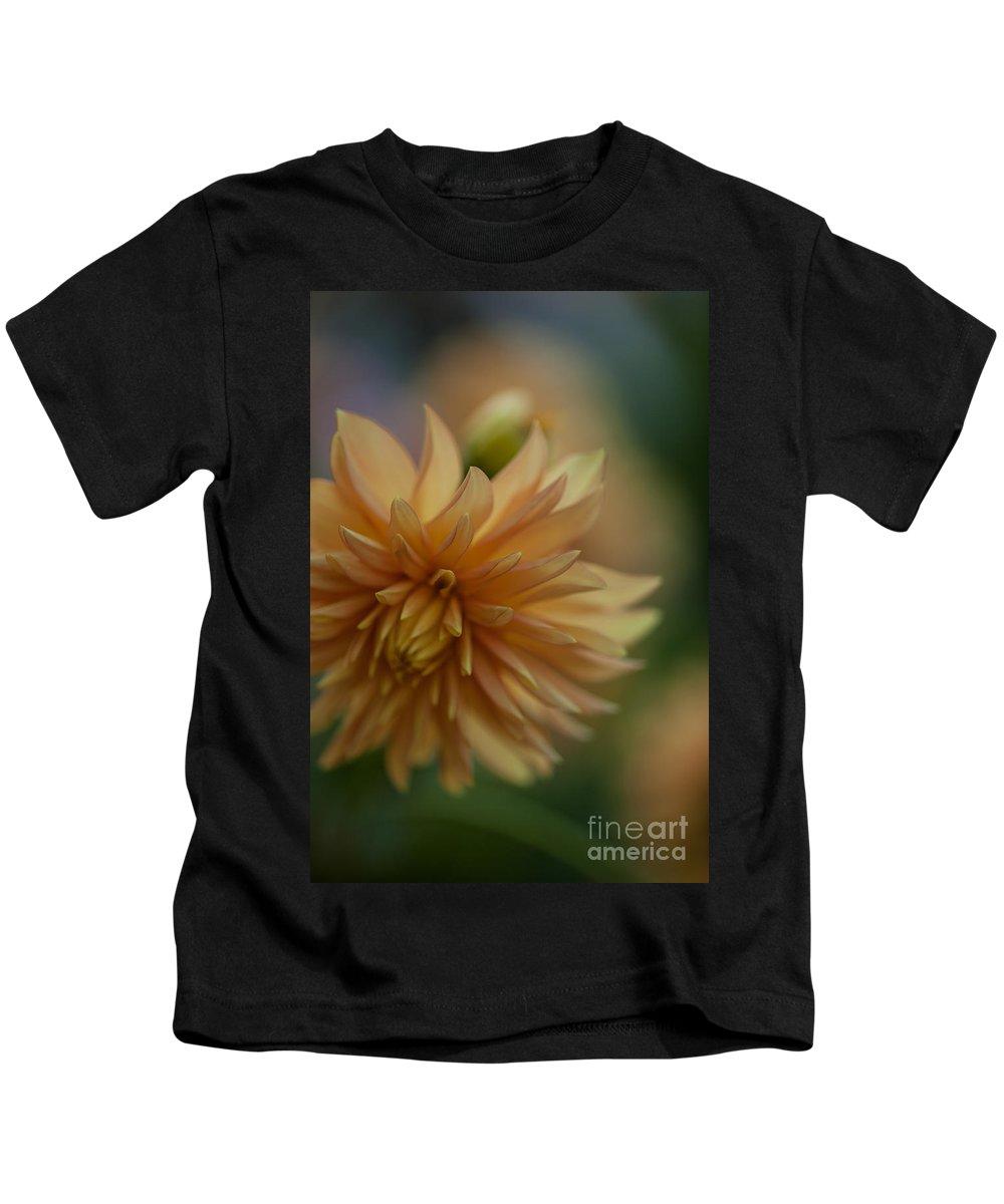 Dahlia Kids T-Shirt featuring the photograph Dahlias Pastel by Mike Reid