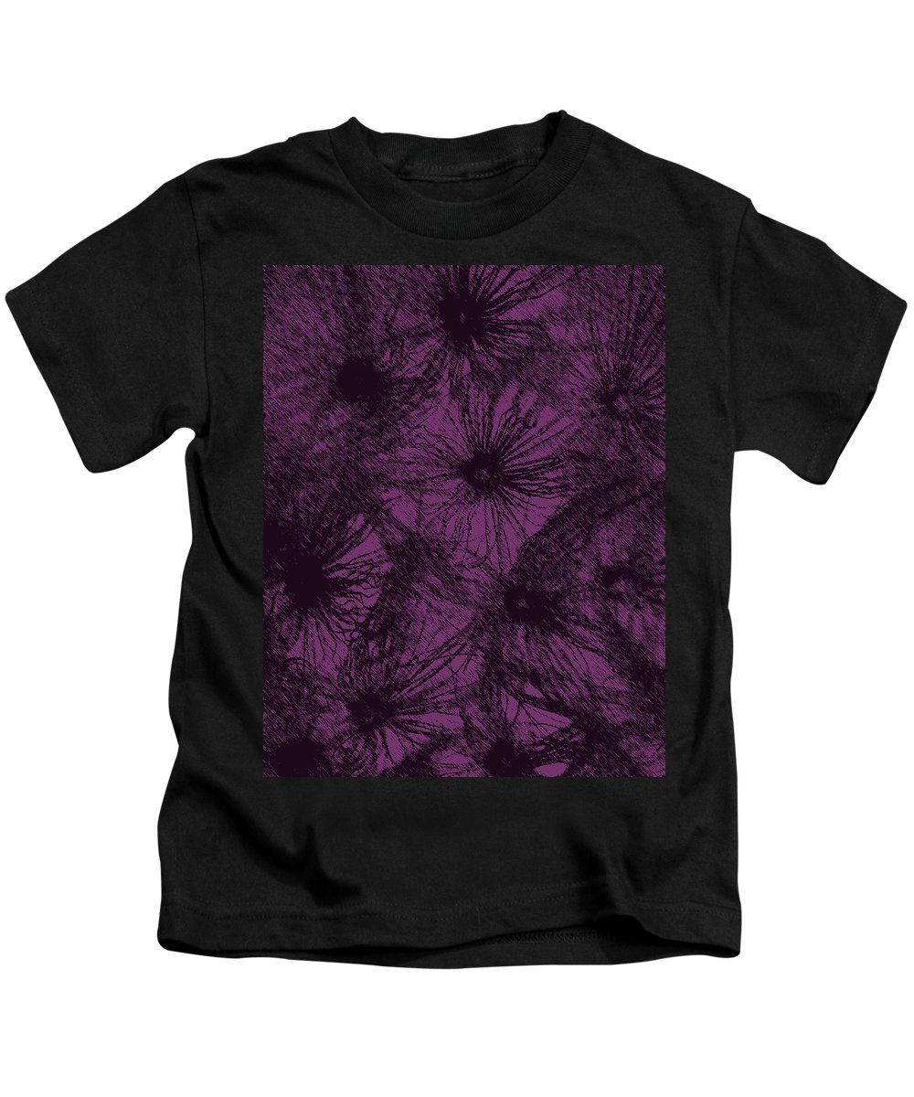 Dandelion Abstract Kids T-Shirt featuring the digital art Dandelion Abstract by Ernie Echols