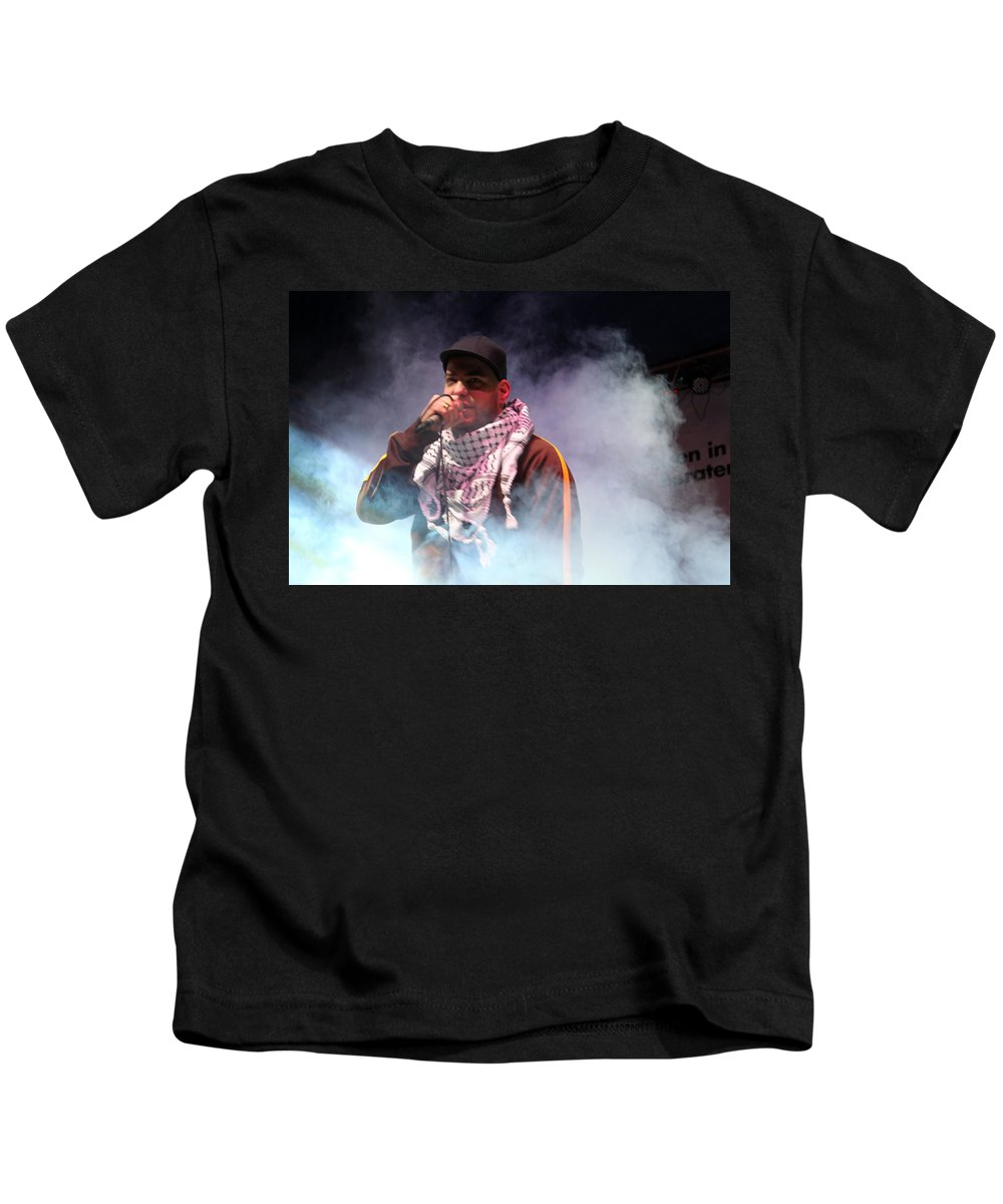 Danny Kids T-Shirt featuring the photograph Danny Fresh Musical Concert At Manger Square by Munir Alawi