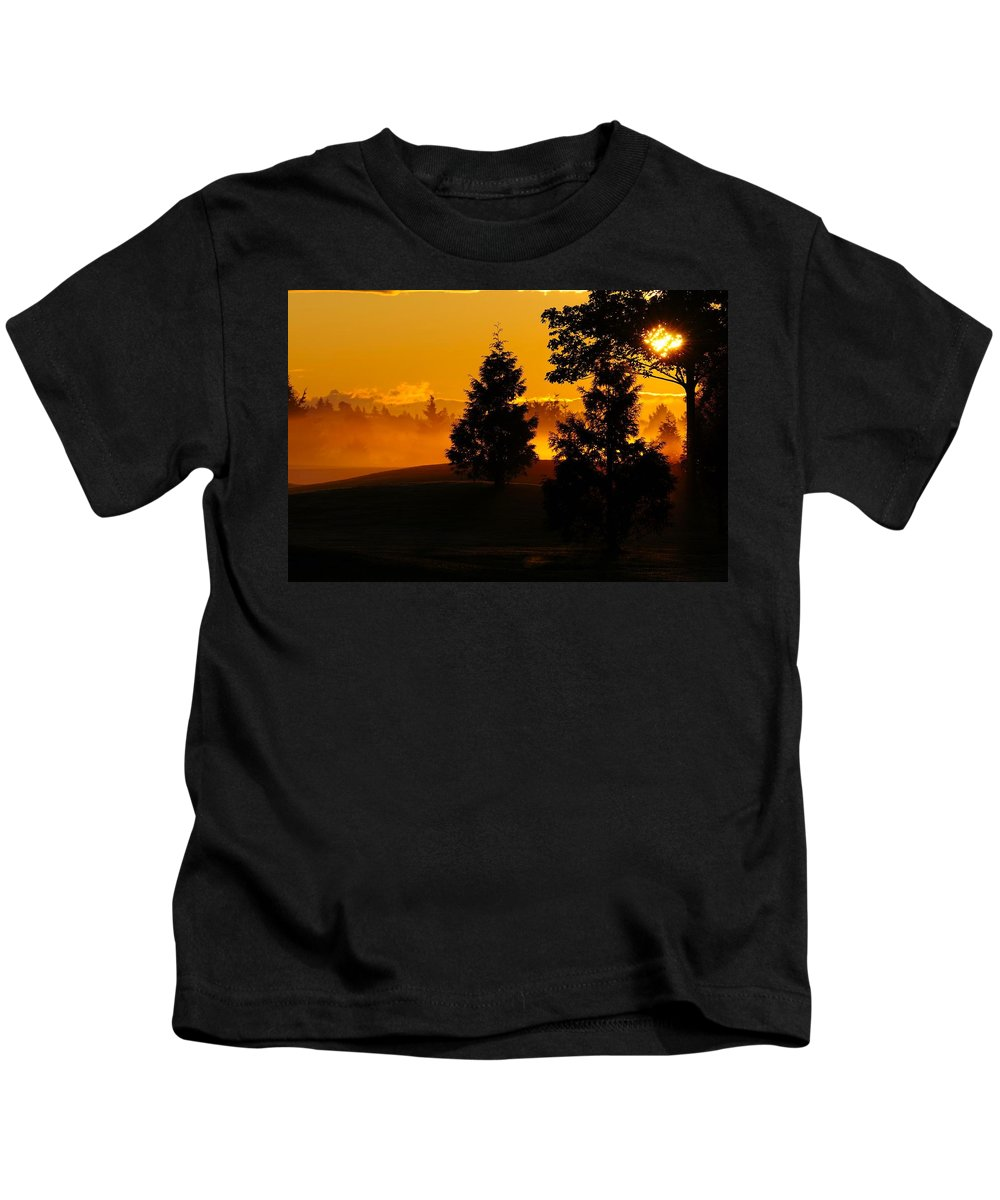 Red Kids T-Shirt featuring the photograph Dawn 1 by Martin Cooper