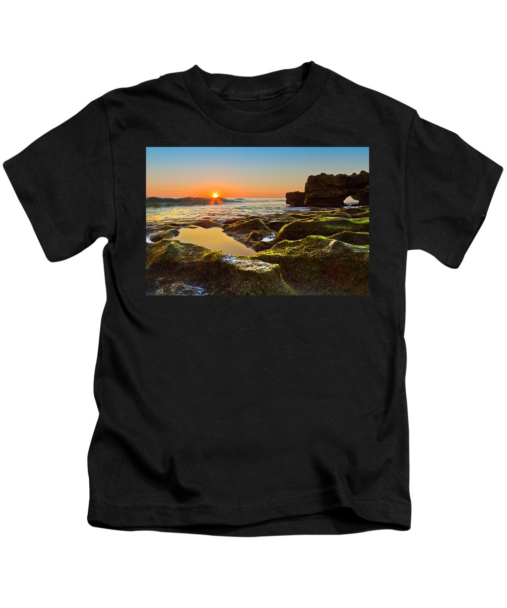 Blowing Rocks Kids T-Shirt featuring the photograph Dawn Pool by Debra and Dave Vanderlaan