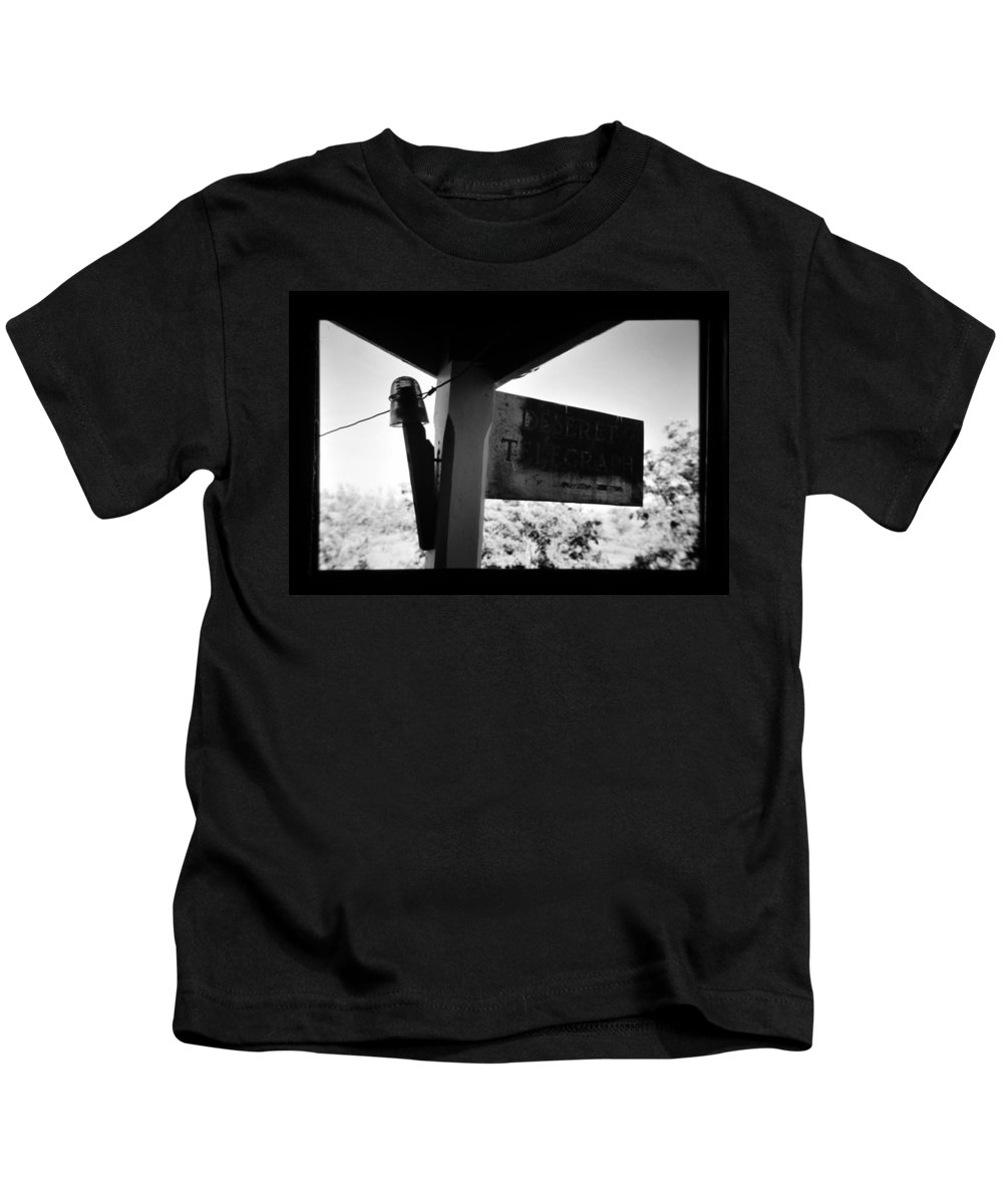 Fine Art Photography Kids T-Shirt featuring the photograph Deseret Telegraph Office by David Lee Thompson