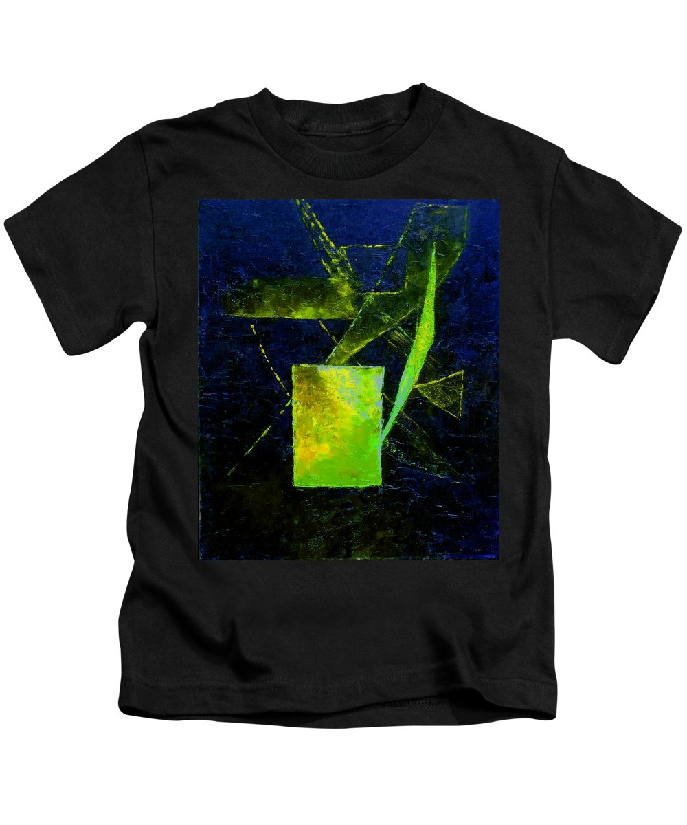 Australian Kids T-Shirt featuring the painting Dimensions 4 by Giro Tavitian