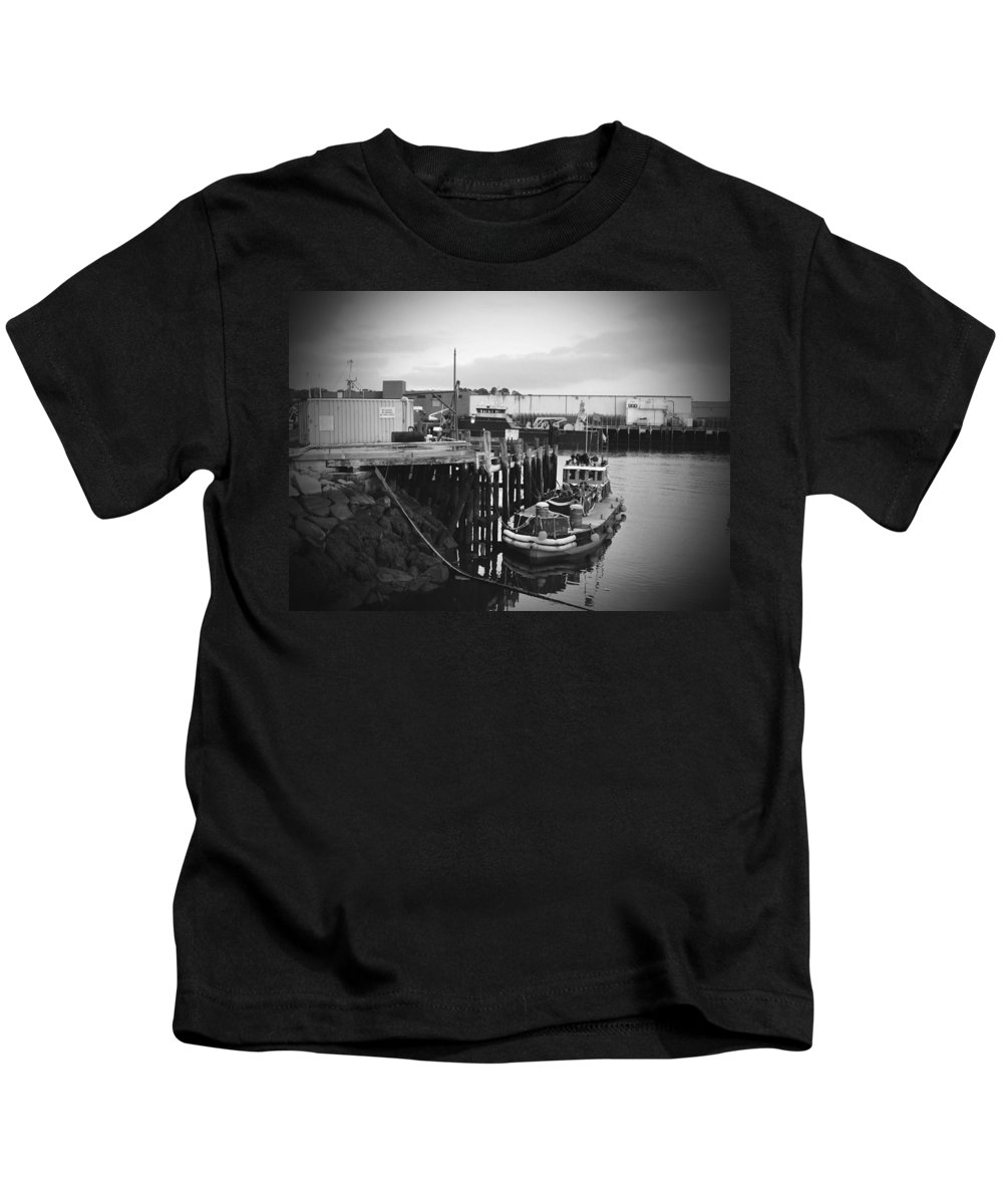 Boat Kids T-Shirt featuring the photograph Done For The Day by Brittany Horton