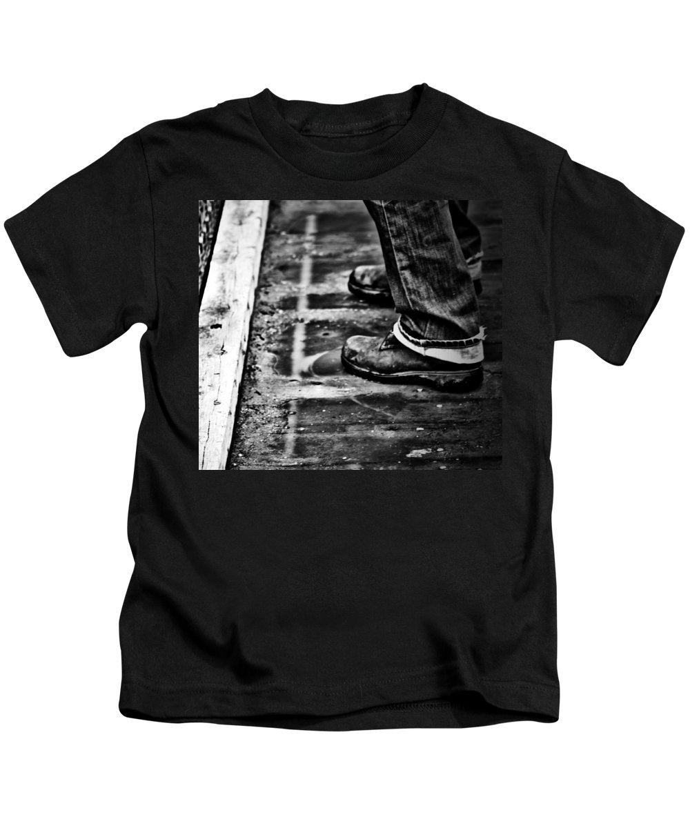 Flower Framed Prints Kids T-Shirt featuring the photograph Dont Jump by The Artist Project