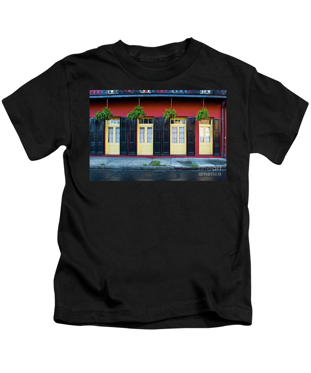 Door Kids T-Shirt featuring the photograph Doors And Shutters by Frances Hattier