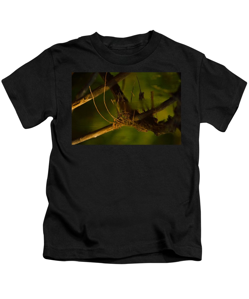 Abstract Kids T-Shirt featuring the photograph Down In The Deep by Susan Capuano