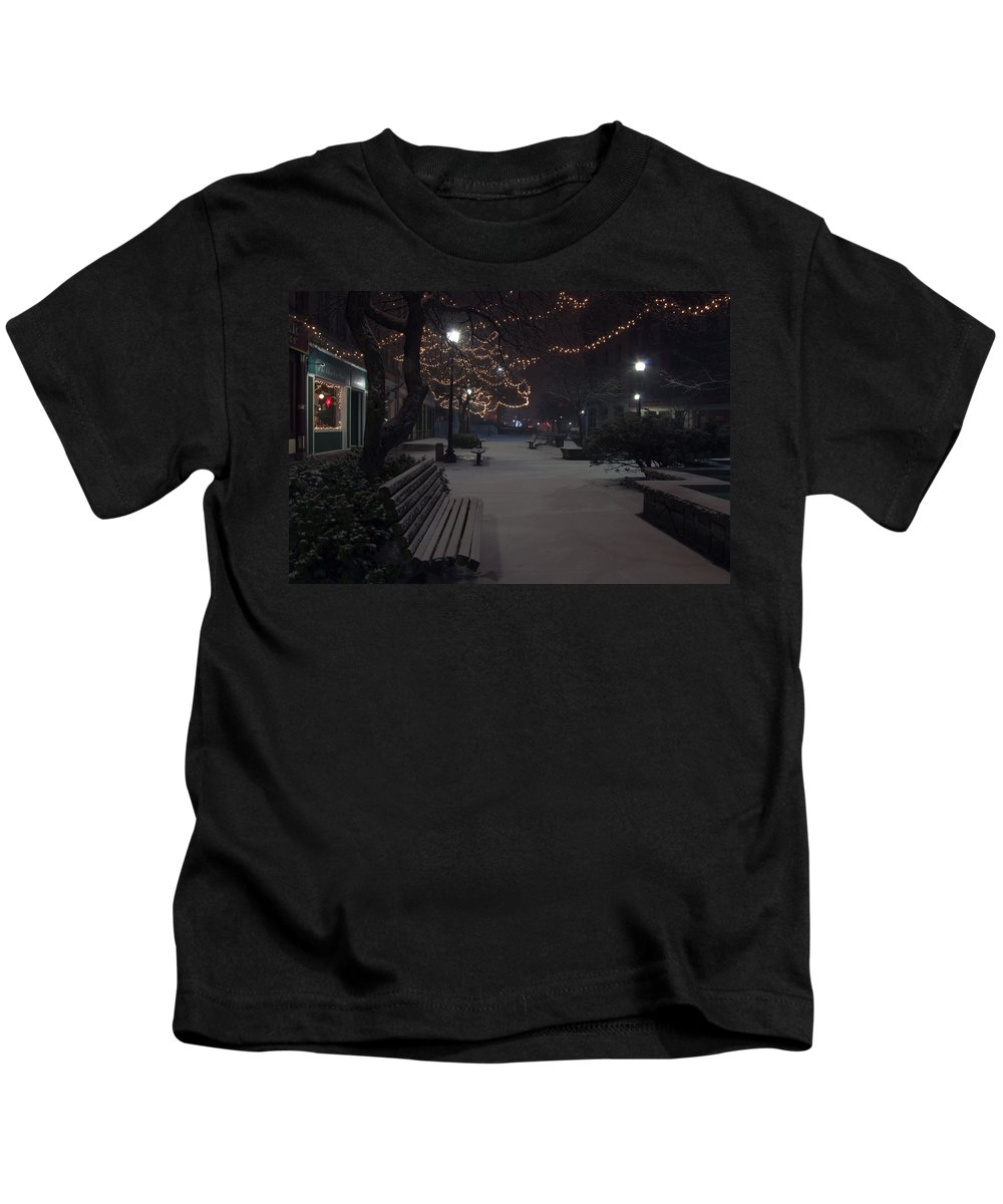 Downtown Kids T-Shirt featuring the photograph Downtown Winter by Glenn Gordon