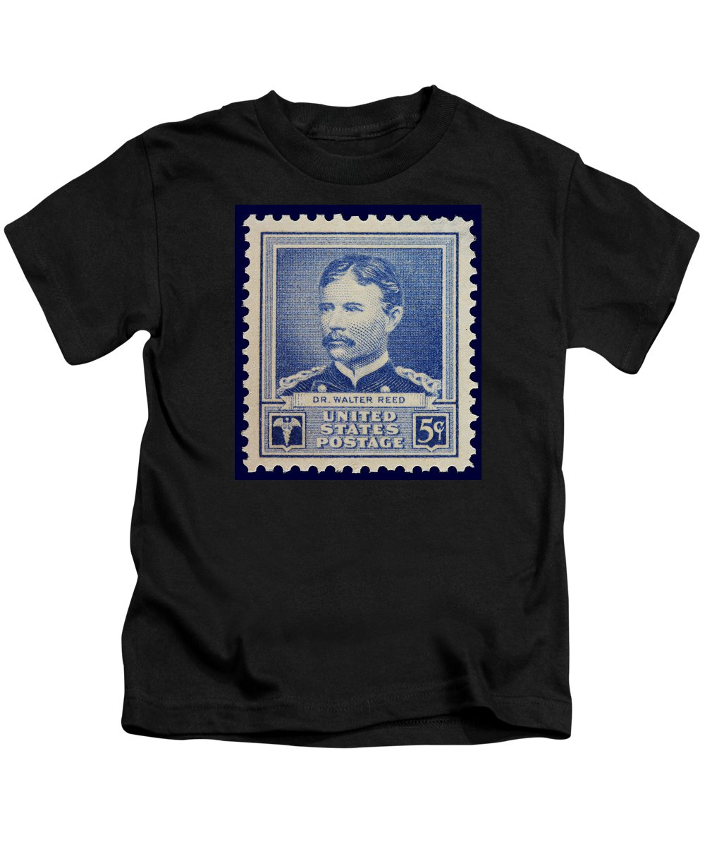 Dr Walter Reed Kids T-Shirt featuring the photograph Dr Walter Reed Postage Stamp by James Hill