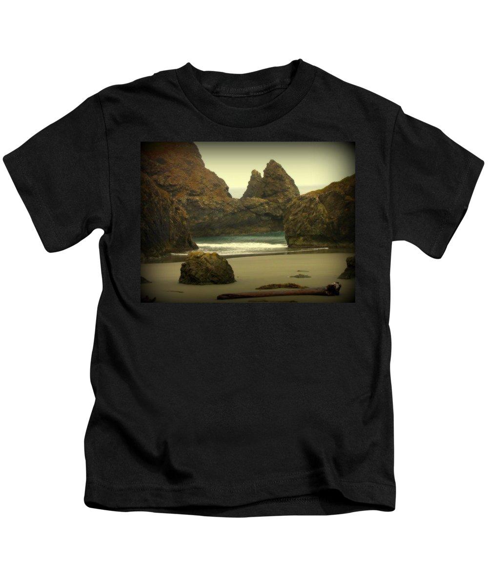 Ocean Landscapes Kids T-Shirt featuring the photograph Dream Beach by Judy Garrett