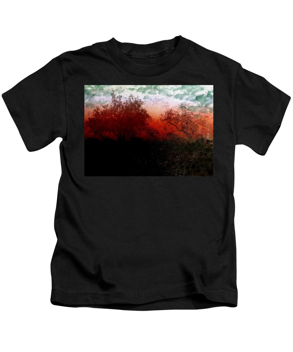 Abstract Kids T-Shirt featuring the photograph Dreamscape Sunset - Abstract by Ellen Heaverlo