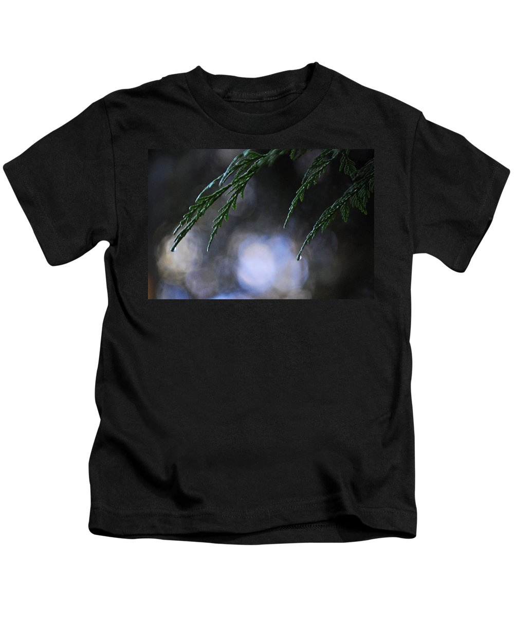 Water Kids T-Shirt featuring the photograph Drops In The Forest by Tikvah's Hope
