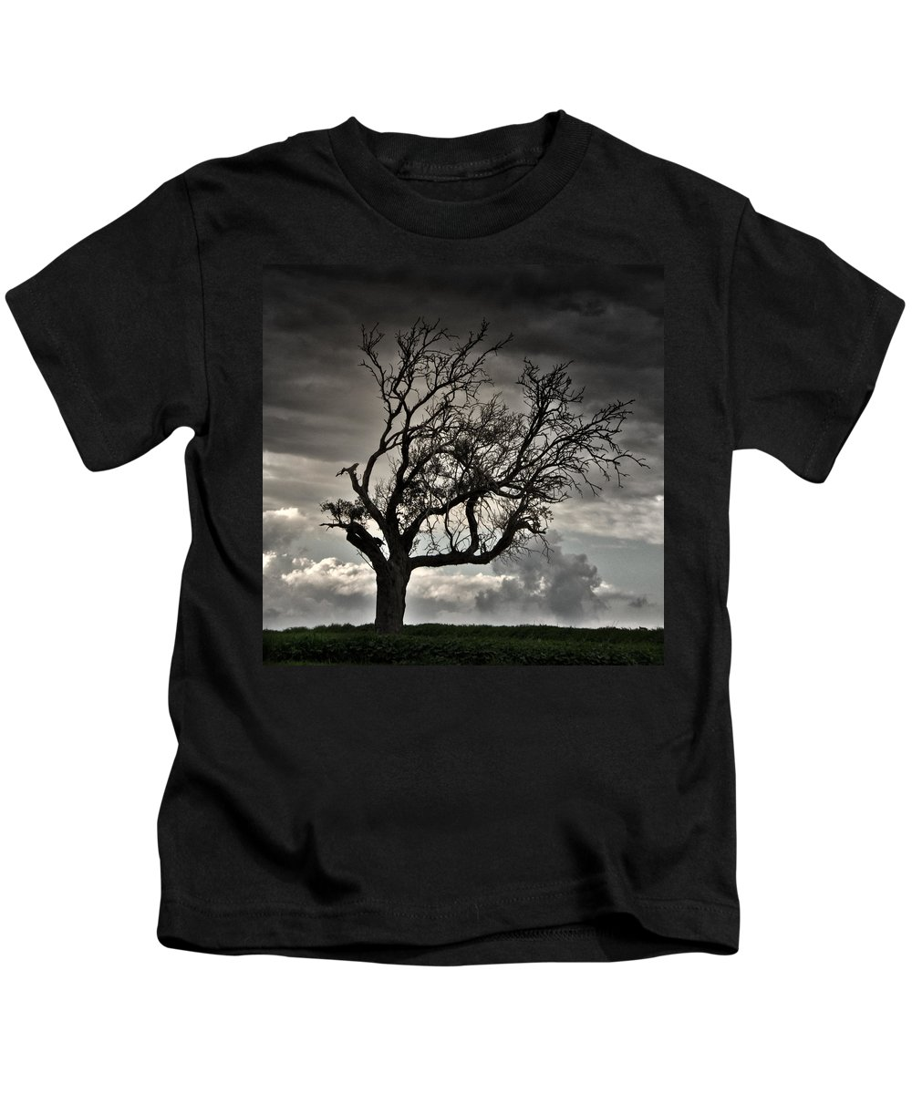 Autumn Kids T-Shirt featuring the photograph Dry Sunset by Stelios Kleanthous