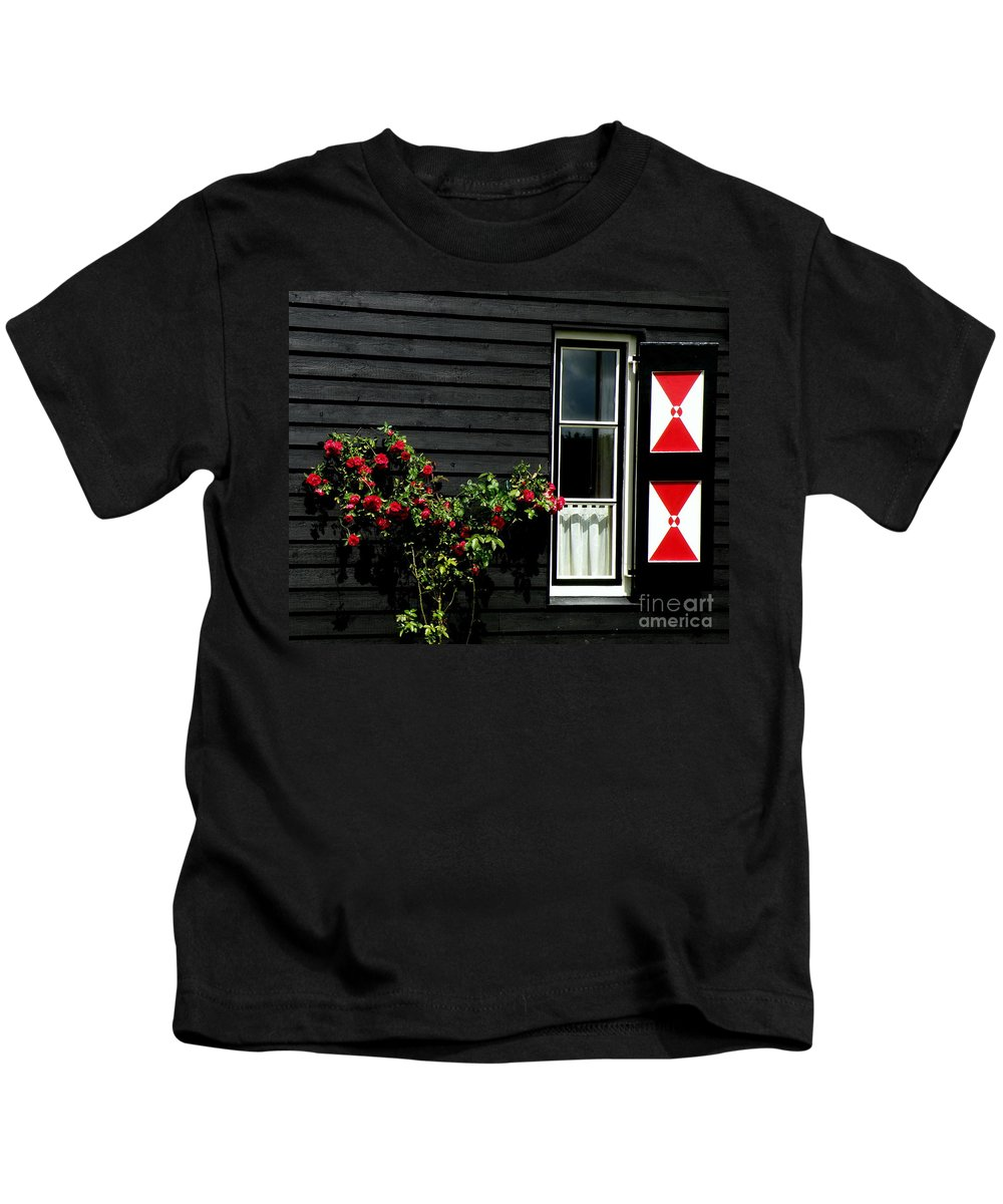 Holland Kids T-Shirt featuring the photograph Dutch Window by Lainie Wrightson