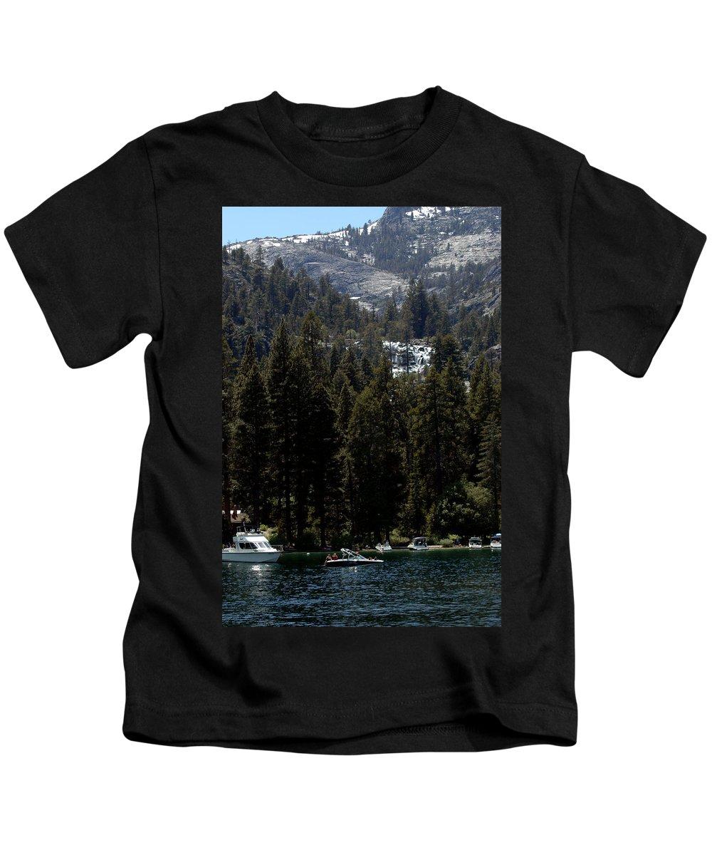 Usa Kids T-Shirt featuring the photograph Eagle Falls Emerald Bay by LeeAnn McLaneGoetz McLaneGoetzStudioLLCcom