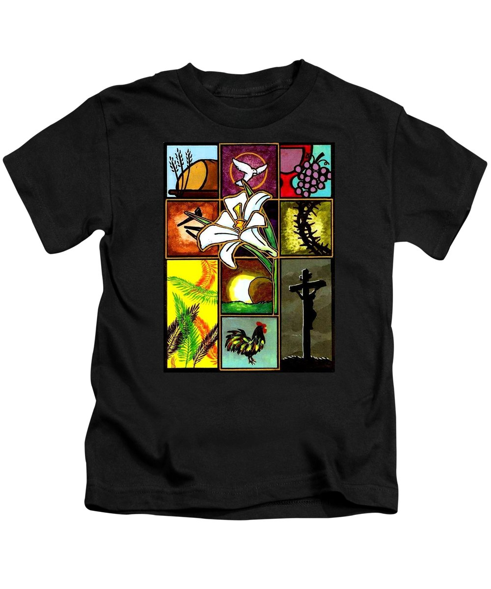 Loaf Kids T-Shirt featuring the painting Easter Sunday by Jim Harris