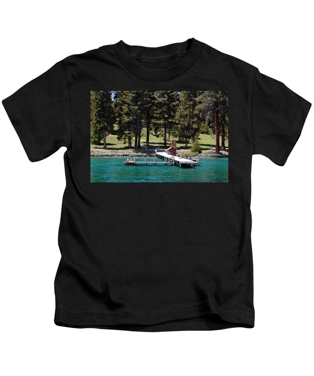 Usa Kids T-Shirt featuring the photograph Ehrman Mansion Sugar Pine Point State Park by LeeAnn McLaneGoetz McLaneGoetzStudioLLCcom