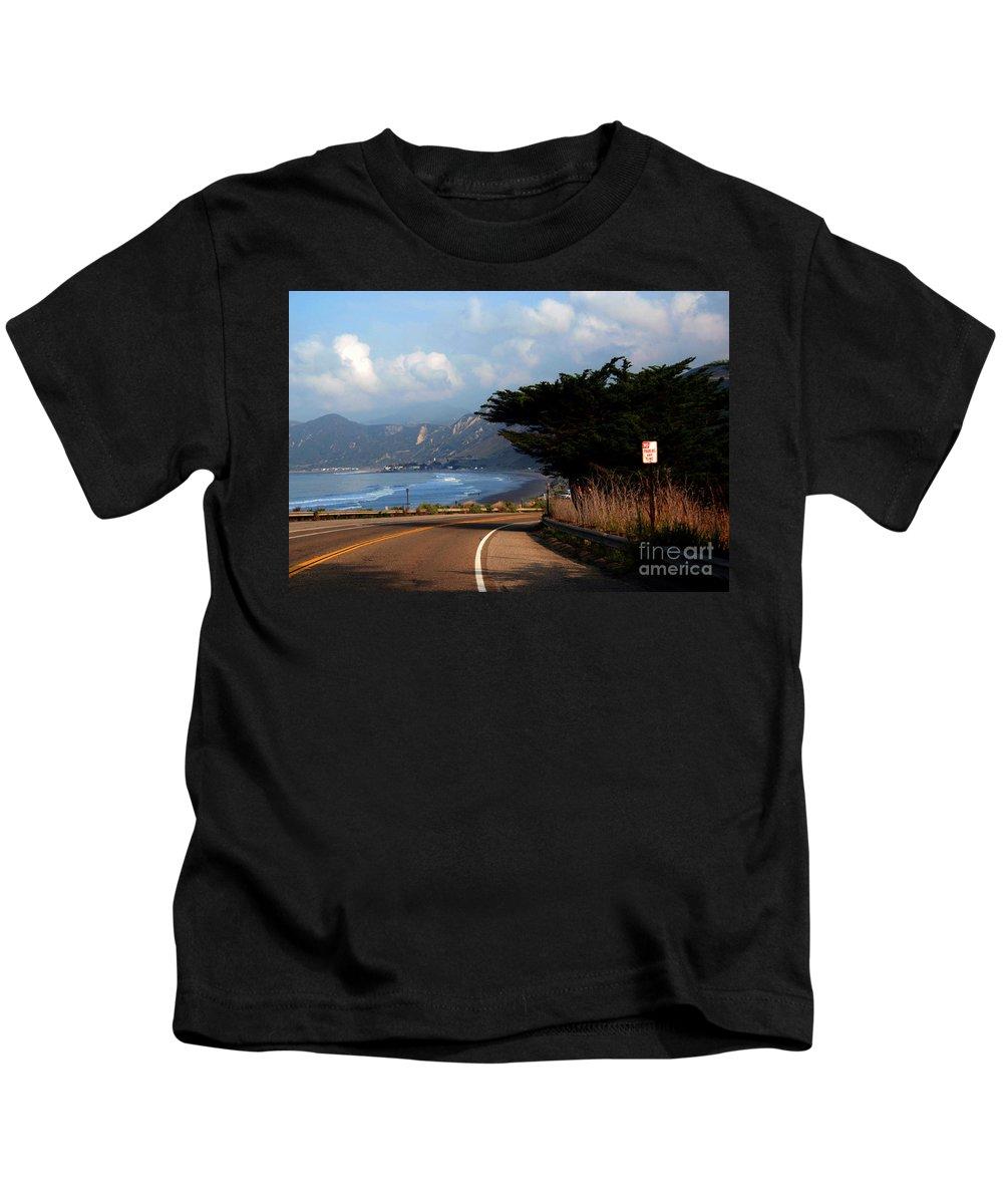 Coastline Kids T-Shirt featuring the photograph Emma Wood State Beach California by Susanne Van Hulst