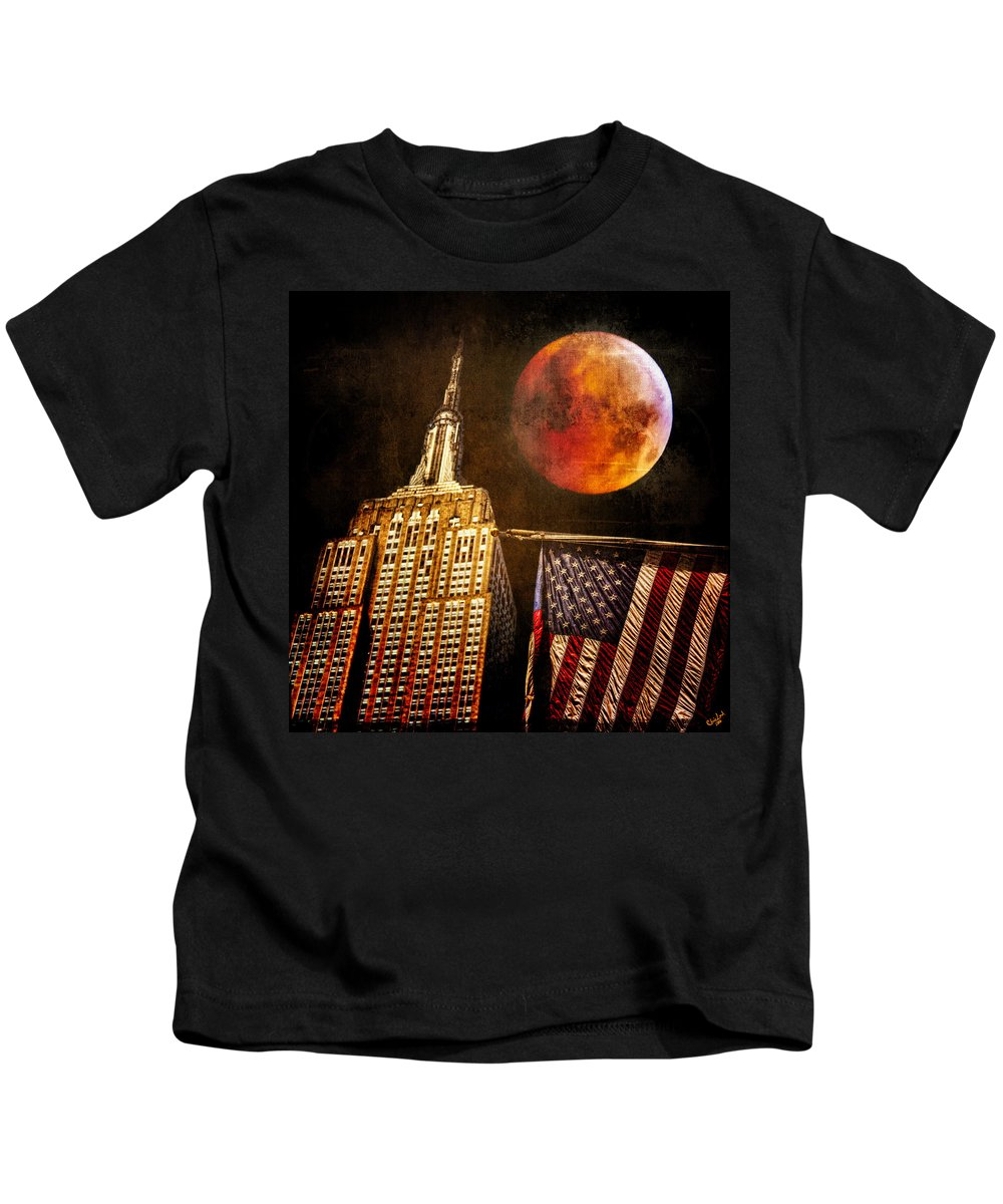 Moon Kids T-Shirt featuring the photograph Empire Solstice by Chris Lord