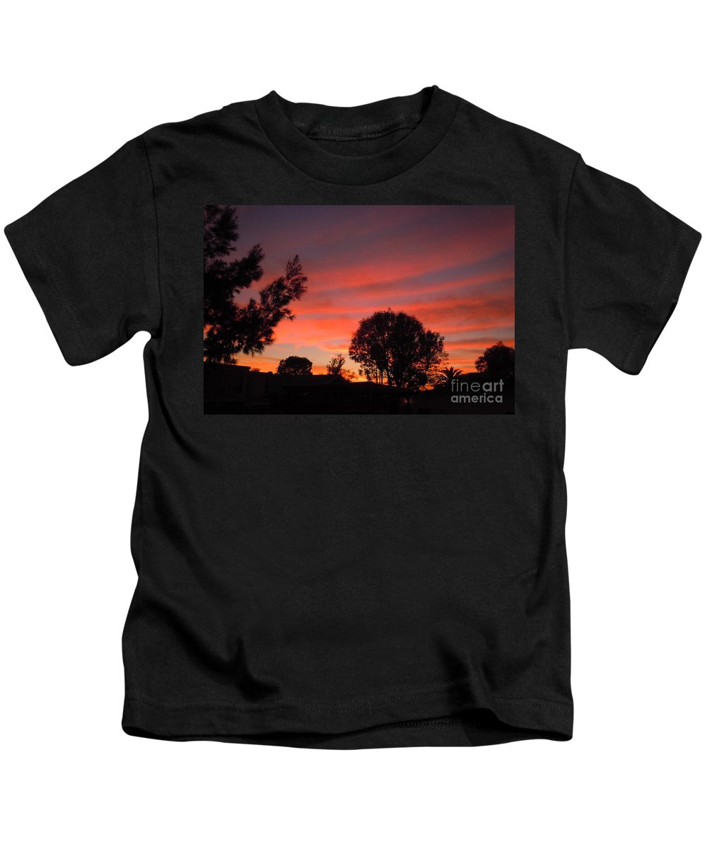 Fire Kids T-Shirt featuring the photograph End Of A Perfect Day by Customikes Fun Photography and Film Aka K Mikael Wallin