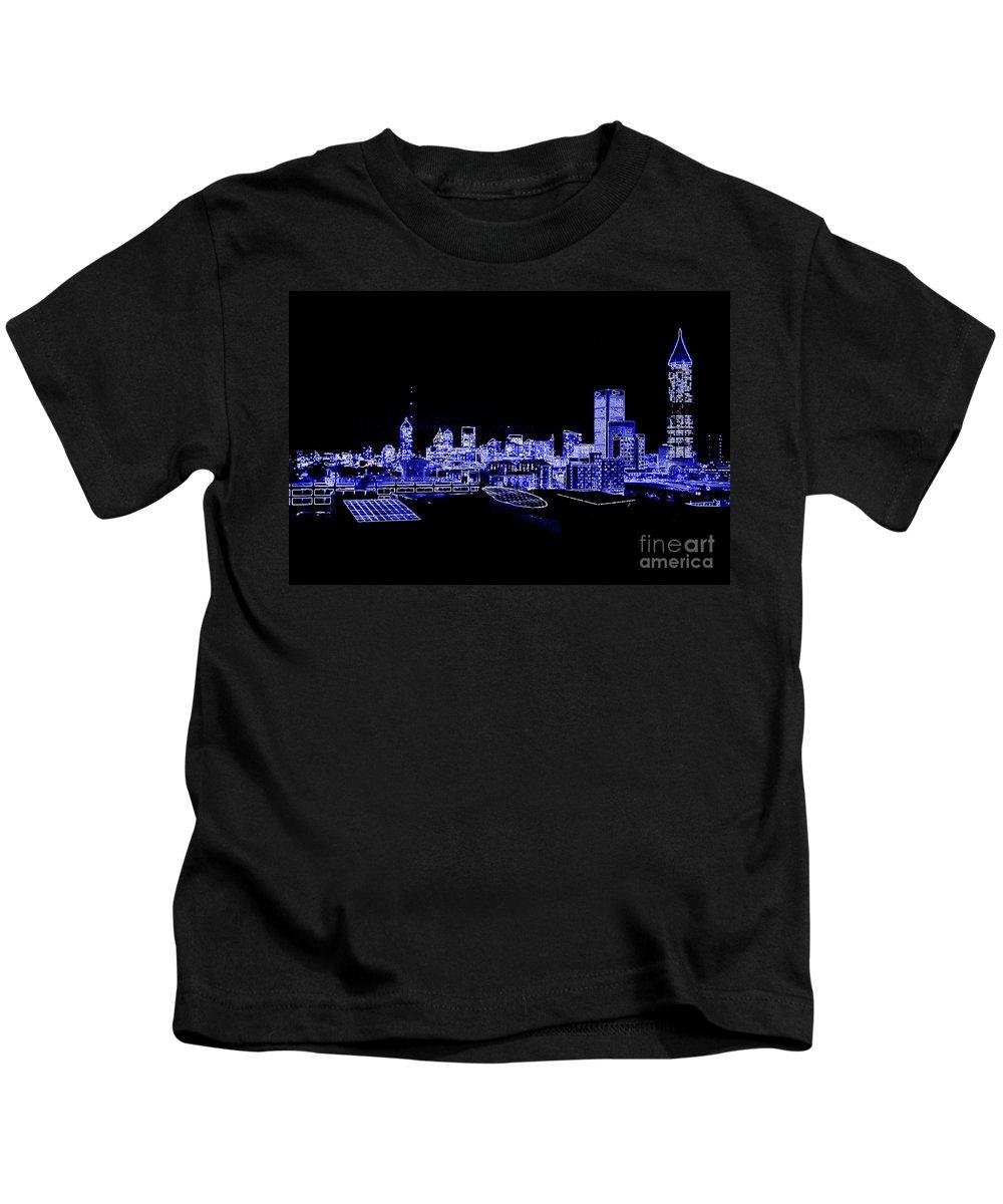 Digital Art Kids T-Shirt featuring the photograph Energetic Atlanta Skyline - Digital Art by Carol Groenen