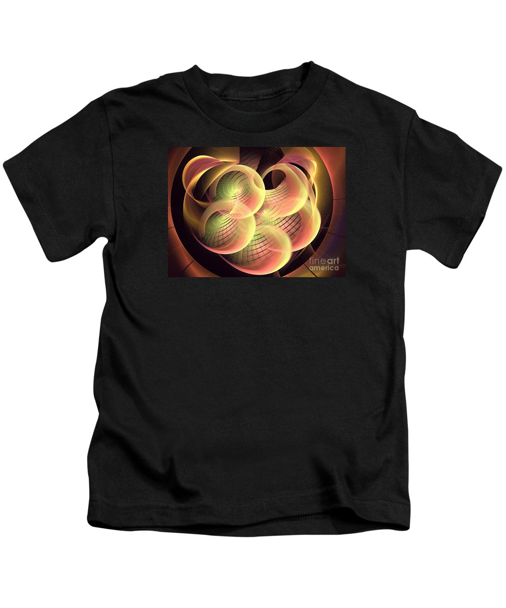 Apophysis Kids T-Shirt featuring the digital art Eon by Kim Sy Ok