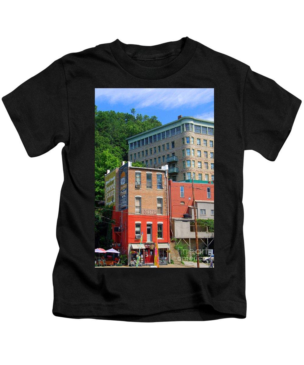 Eureka Springs Kids T-Shirt featuring the photograph Eureka Springs by Anjanette Douglas