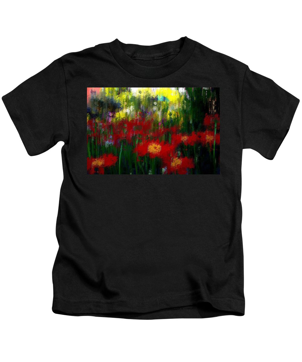 Landscape Kids T-Shirt featuring the mixed media Evoke by Terence Morrissey