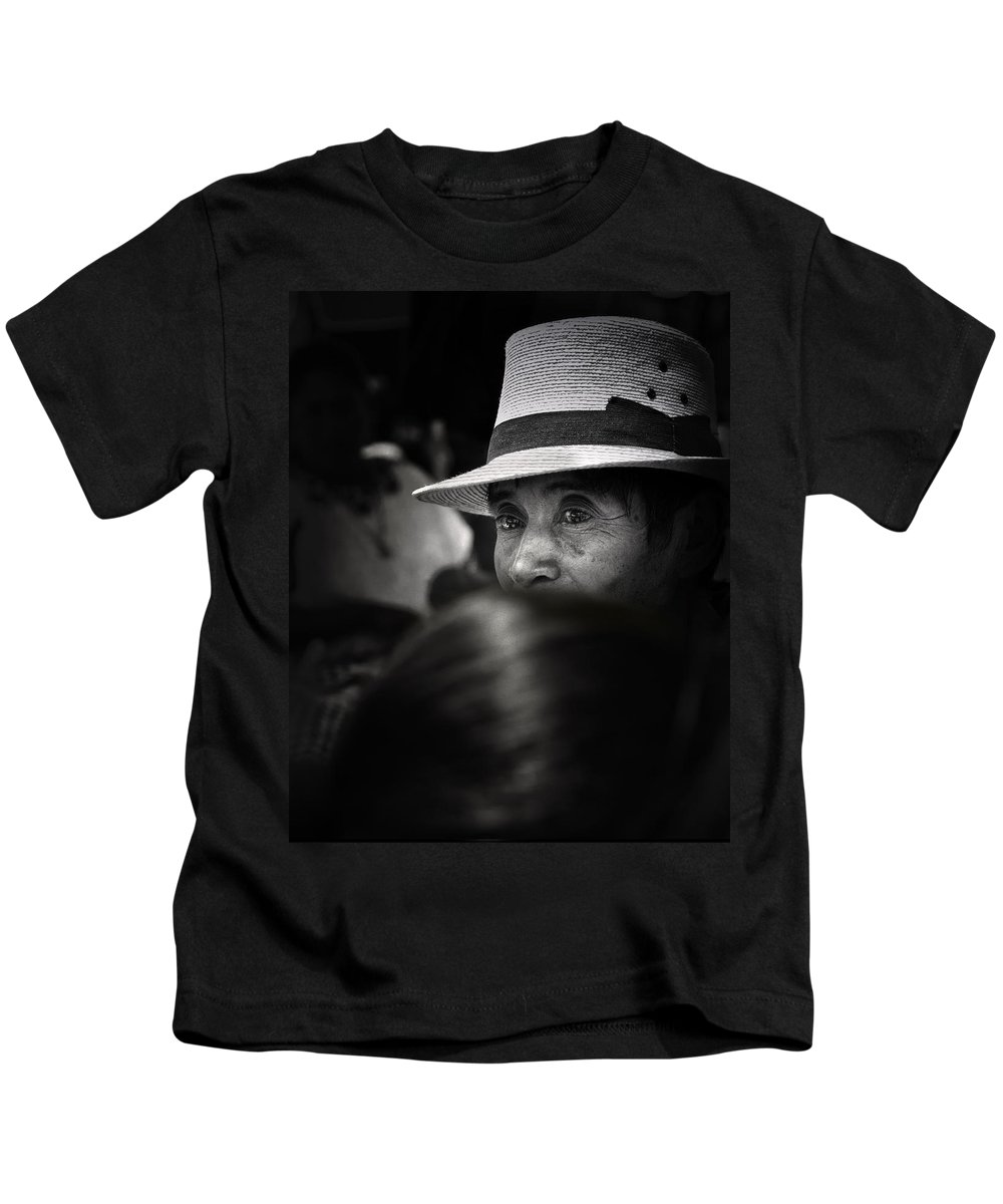 Man Kids T-Shirt featuring the photograph Eyes Among The Crowd by Tom Bell