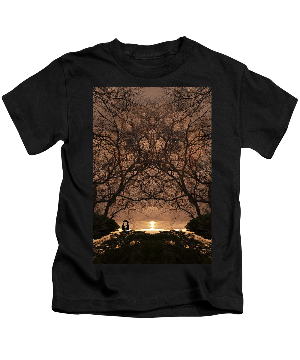 Art Kids T-Shirt featuring the photograph Eyes Of Secrecy by Jay Hooker