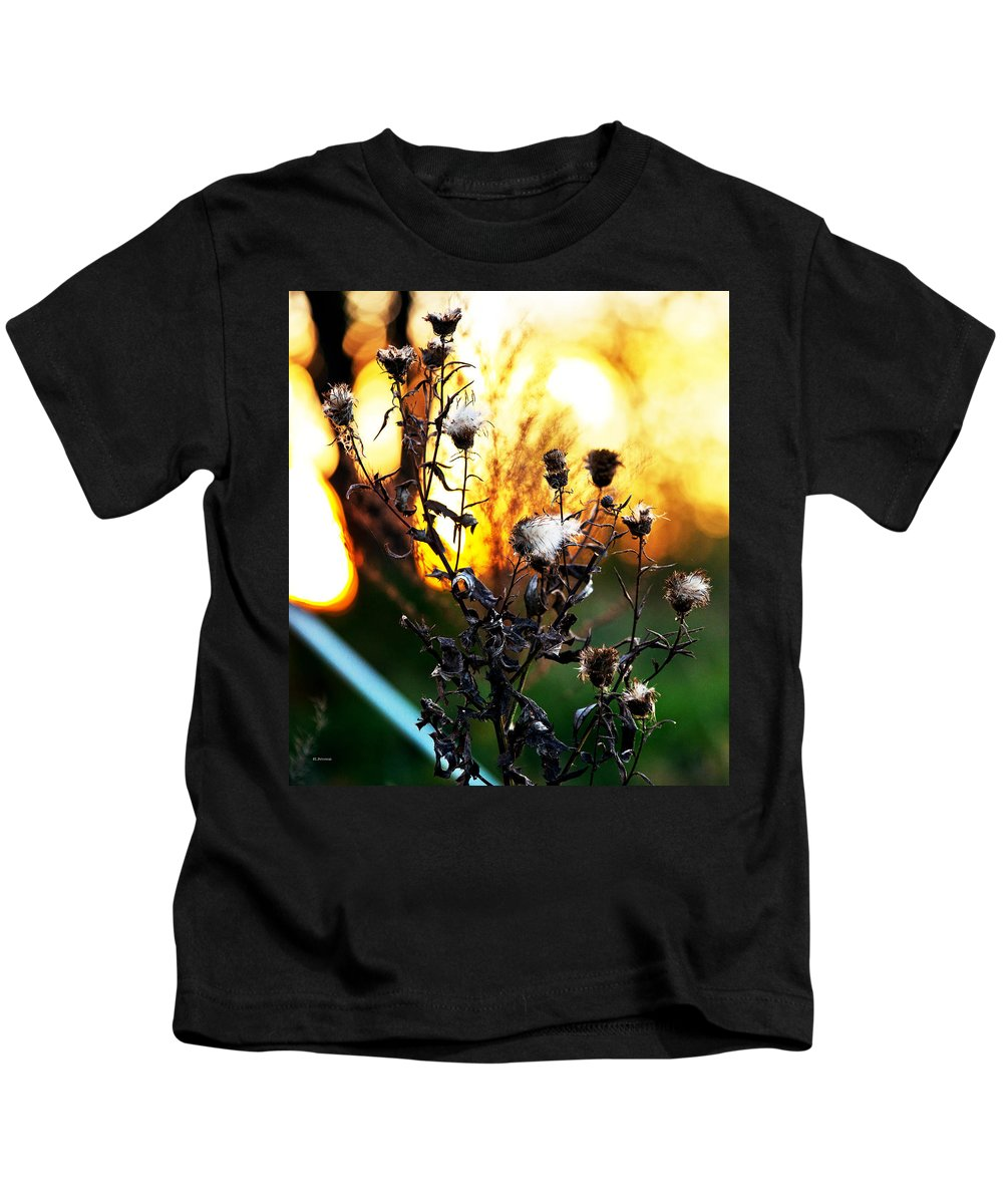 Floral Kids T-Shirt featuring the photograph Fall Blooms by Edward Peterson