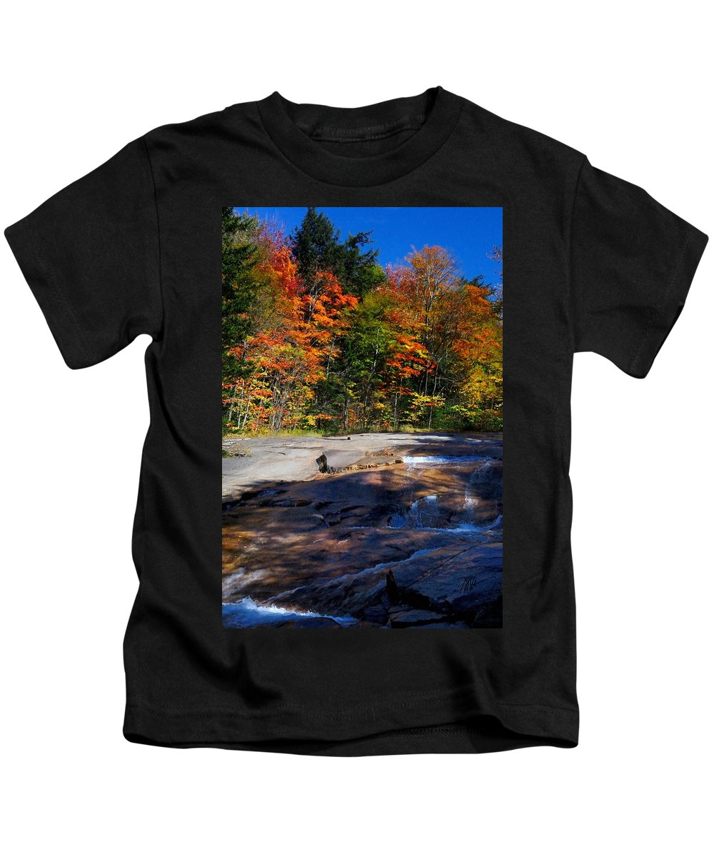 Kids T-Shirt featuring the photograph Fall Falls by Mark Valentine
