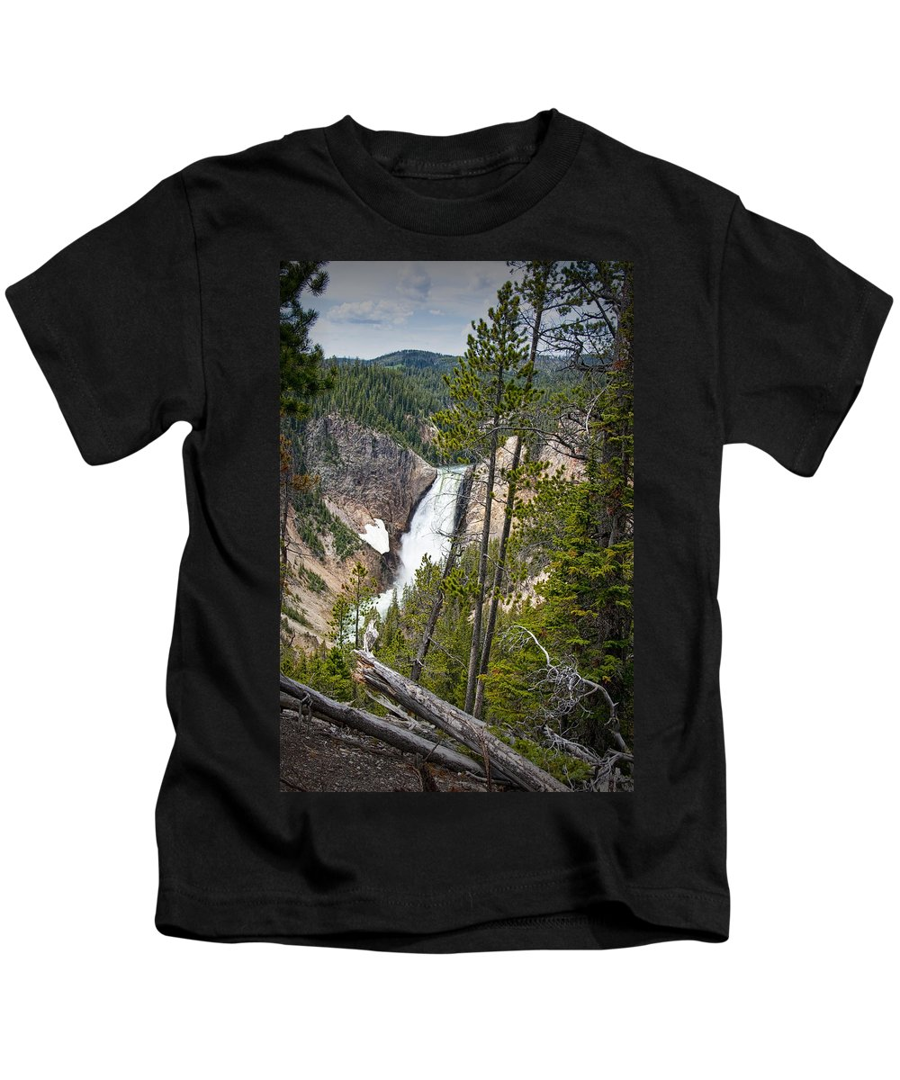Art Kids T-Shirt featuring the photograph Falls In The Grand Canyon Of Yellowstone by Randall Nyhof