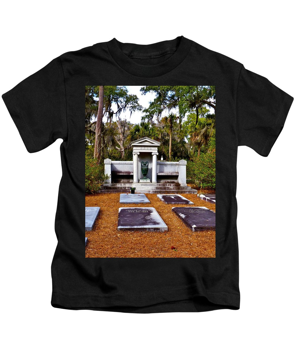 Cemetery Kids T-Shirt featuring the photograph Family Plot by Catherine Conroy