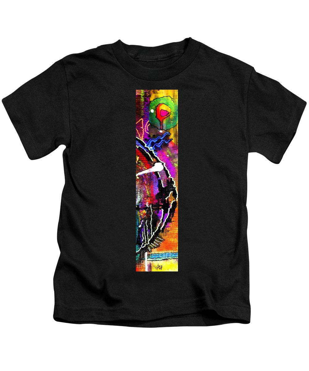 Greeting Cards Kids T-Shirt featuring the mixed media Fantasy Land by Angela L Walker