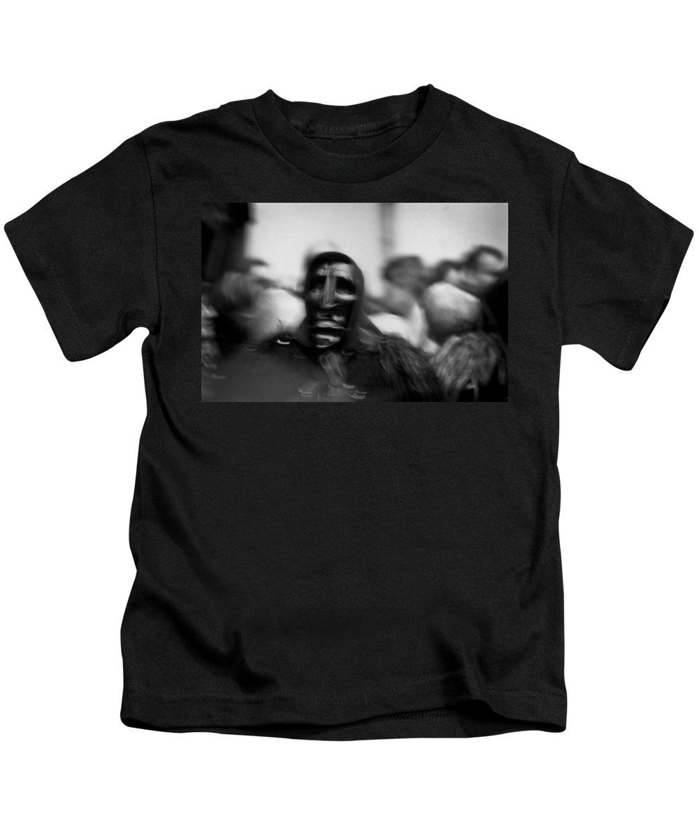 B/w Kids T-Shirt featuring the photograph Feeling Different by Michele Mule'