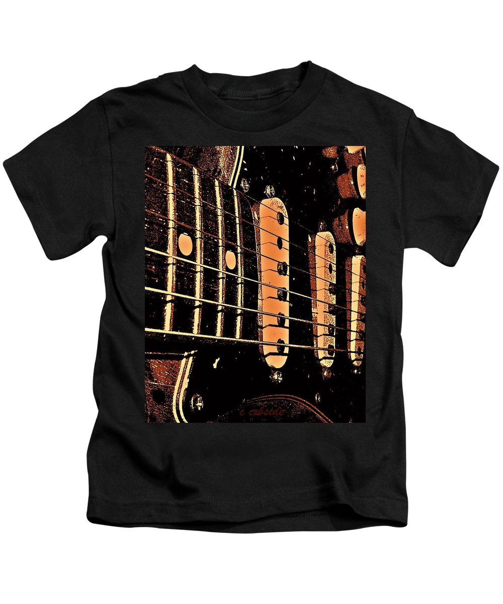 Music Kids T-Shirt featuring the photograph Fender In Brown by Chris Berry