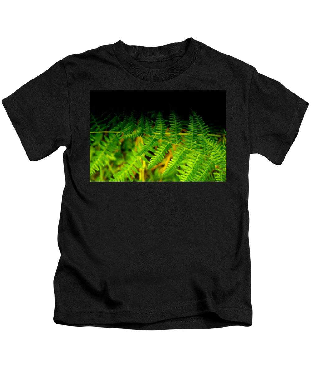 Fern Kids T-Shirt featuring the photograph Fern IIi by Ellen Heaverlo