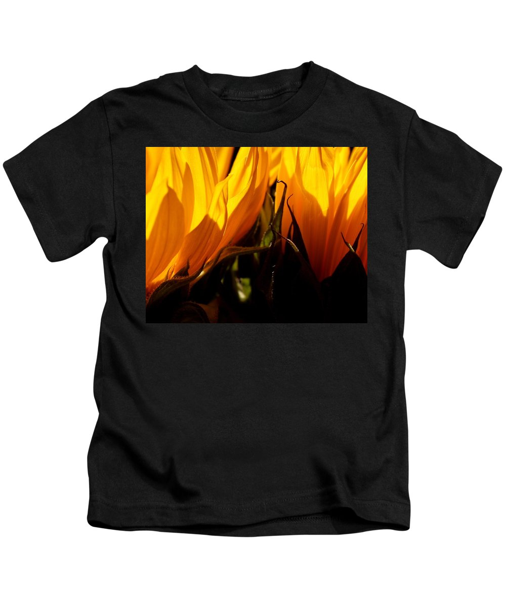Fiery Kids T-Shirt featuring the photograph Fiery Sunflowers by Kume Bryant
