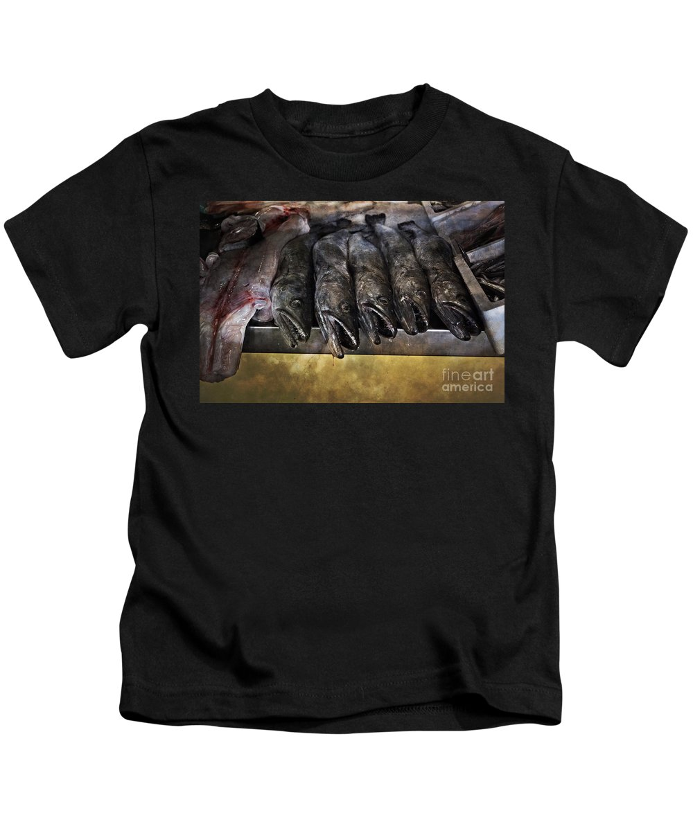 Metropol Parasol Kids T-Shirt featuring the photograph Fish Market Seville Metropol Parasol by Mary Machare