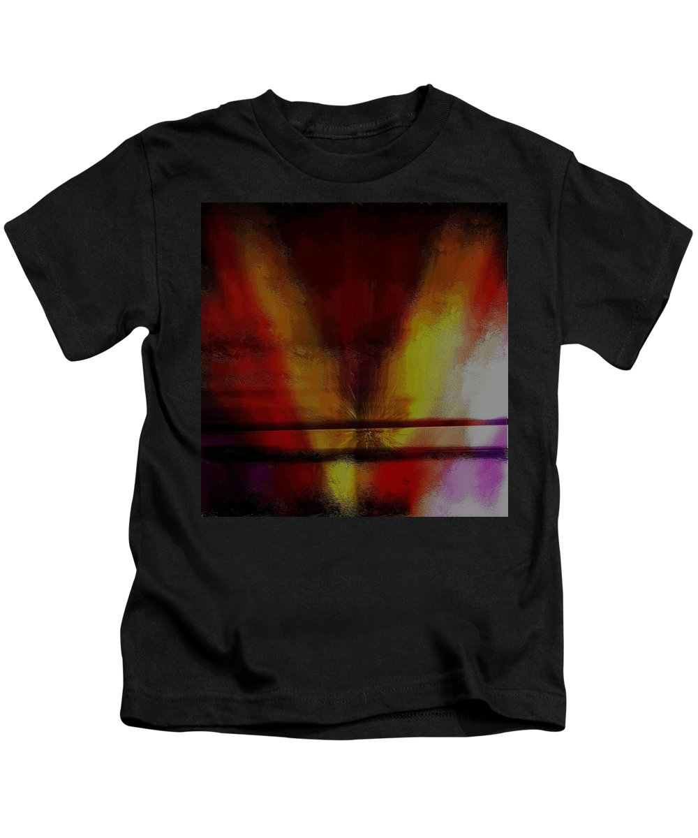 Abstract Expressionism Kids T-Shirt featuring the mixed media Floating Brush by Terence Morrissey