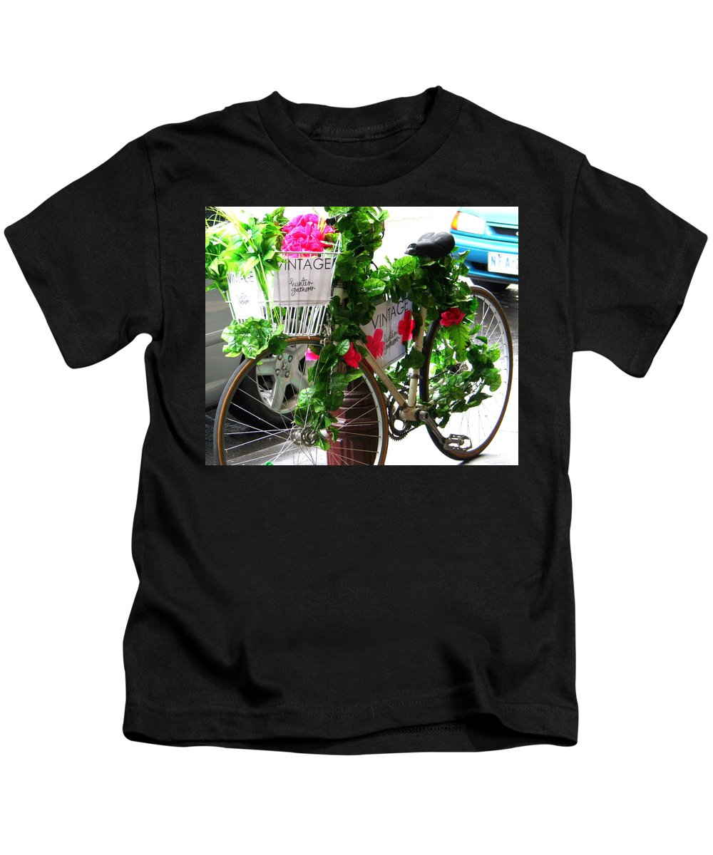 Floral Kids T-Shirt featuring the photograph Floral Delivery by Laurel Talabere