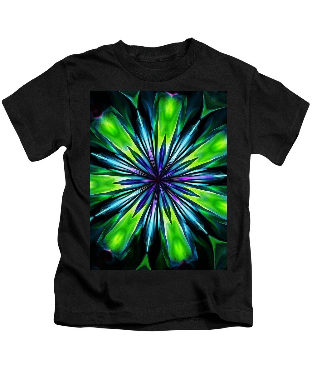 Fine Art Kids T-Shirt featuring the digital art Floral Fantasy 052412 by David Lane