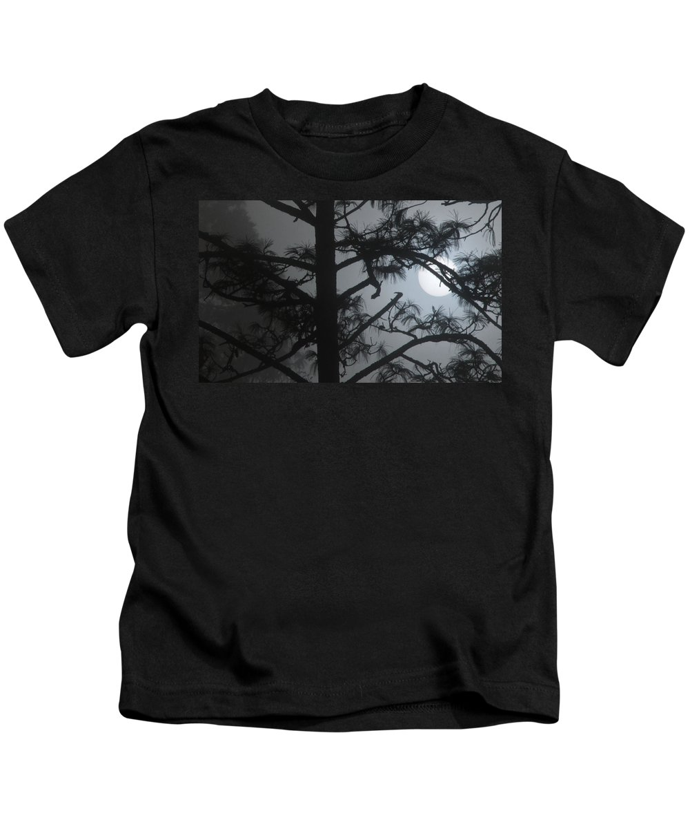 Tree Kids T-Shirt featuring the photograph Foggy Sunrise by David Resnikoff