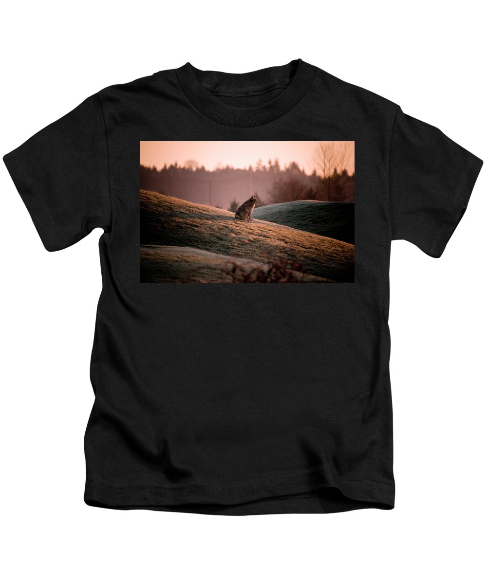 Coyote Kids T-Shirt featuring the photograph Forlorn Two by Martin Cooper