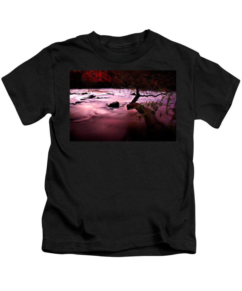 French Broad River Kids T-Shirt featuring the photograph French Broad River In Fall by Gray Artus
