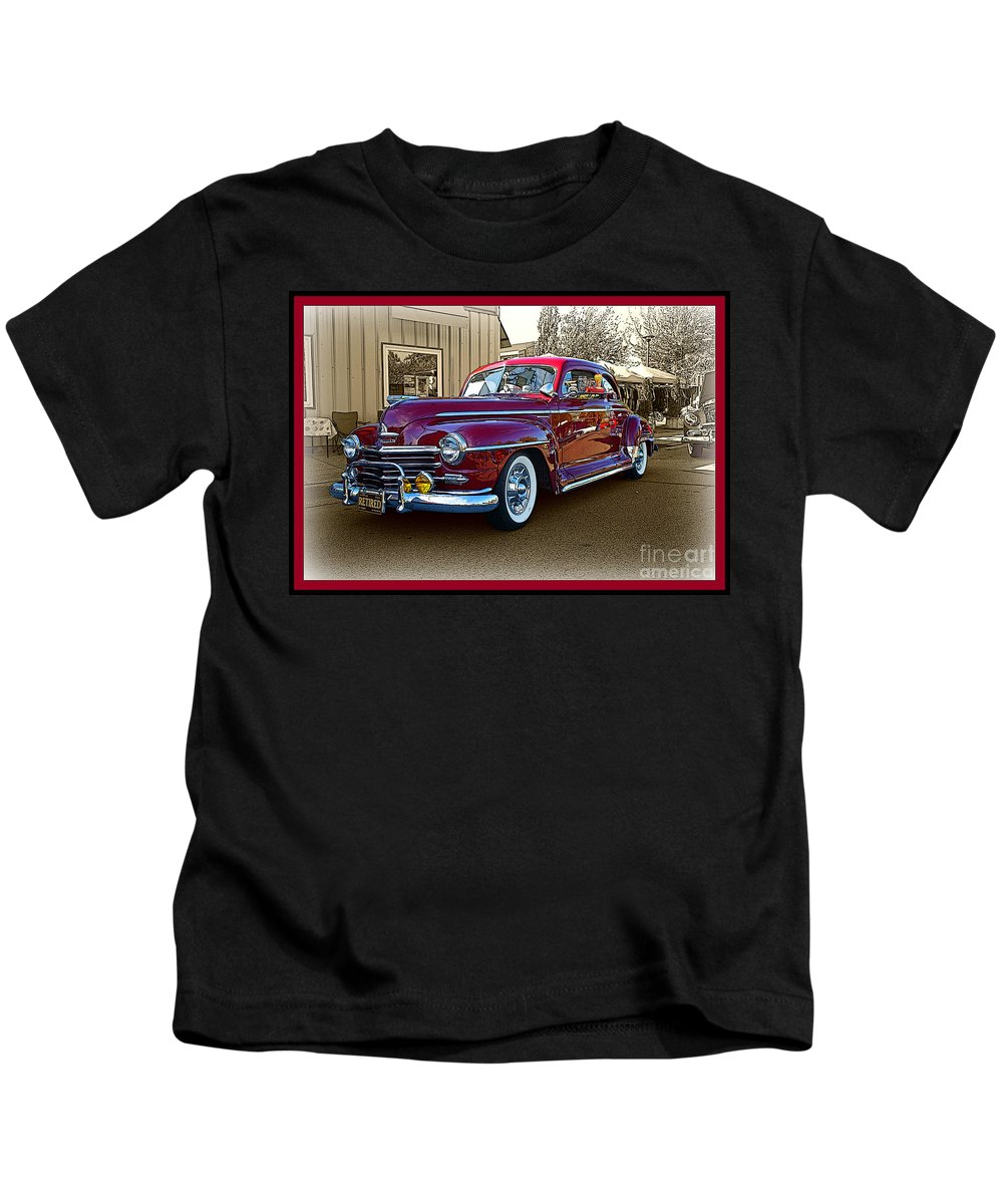 Cars Kids T-Shirt featuring the photograph From Past Times by Randy Harris