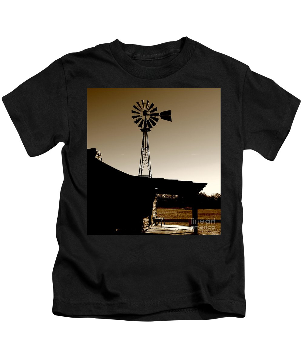 Log Cabin Kids T-Shirt featuring the photograph Frost On The Stoop by Robert Frederick