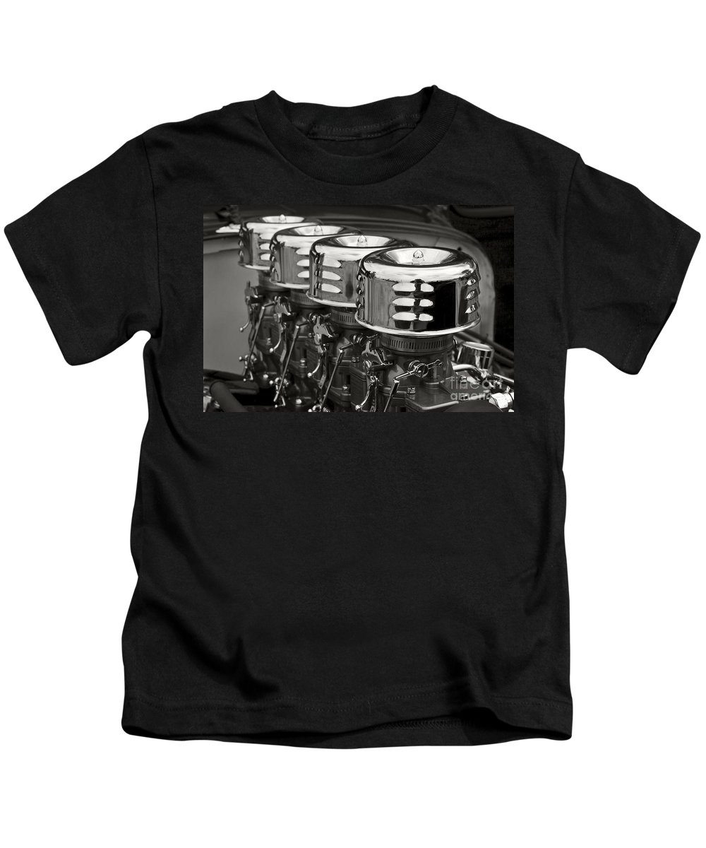 Classic Automobile Kids T-Shirt featuring the photograph Fuel by Dennis Hedberg